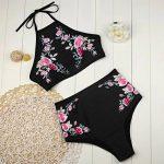 ❉Femme Maillot de Bain Grande Taille 2 Pièces Tankini Push Up Bandage Bikini Taille Haute Cintrée Rembourrée GongzhuMM de la marque Maillots de Bain GongzhuMM image 4 produit