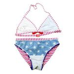 Fille Maillot de Bain A Rayé Deux Pièces Bikini à Bretelle Étoiles Tankini Vacances 8-16 Ans de la marque OMSLIFE image 2 produit
