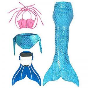 Filles Maillot de Bain Queues de sirène avec Monopalme Déguisement de Sirène 4pcs Bikini Ensembles de la marque SPEEDEVE image 0 produit