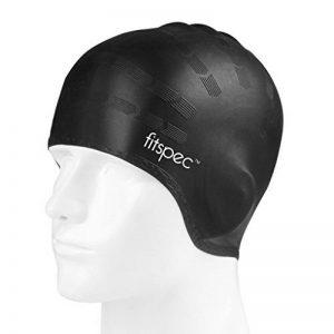 Fitspec Bonnet de bain en silicone avec poches oreilles Anti-déchirure Capuchon de bain sans latex durable pour hommes Femmes avec Longs cheveux épais de la marque image 0 produit