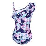 Freebily Une Épaule Maillot de Bain 1 pièce Bébé Fille Enfant Body Imprimé Floral Bikini à Volants Froufrous 2-8 Ans de la marque Freebily image 1 produit