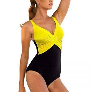 GWELL Femme Maillot de Bain Une Pièce Bikini Grande Taille Amincissant Contraste Vintage Vogue Beach Sexy Push Up de la marque GWELL image 0 produit