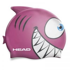Head Meteor Character Bonnet de bain en silicone rose–Requin de la marque image 0 produit