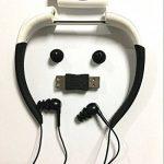 Hipipooo-8GB Mémoire étanche Sports Lecteur de musique MP3 Écouteur audio stéréo Collier sous-marin Natation Plongée avec microphone FM Casque(Blanc) de la marque image 1 produit