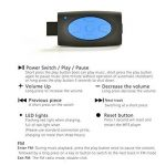 Hipipooo-8GB Mémoire étanche Sports Lecteur de musique MP3 Écouteur audio stéréo Collier sous-marin Natation Plongée avec microphone FM Casque(Bleu) de la marque image 3 produit