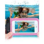 """Housse étanche Universal COOSA Etui Coque Case Pochette pour Samsung/HTC/Sony/Nokia-Tous les téléphones/tablettes/iPods Sac étanche Waterproof Sac PVC Transparent Noctilucent inférieure à 5.8"""" (Rose, 5-5.8 Inch) de la marque COOSA image 3 produit"""