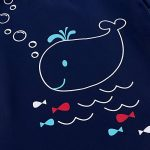 HUANQIUE Enfant Maillot de Bain Deux-pièces Haut+Short Unisexe Anti-UV Motif Petite Baleine 0-6 Ans de la marque HUANQIUE image 4 produit