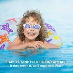 i-swim Pro Kids Swim Lunettes de natation et bonnet de bain, conçu spécialement pour les enfants avec longue durée de vie garantie, étanche, facile Sangles réglables et confortable de la marque image 4 produit