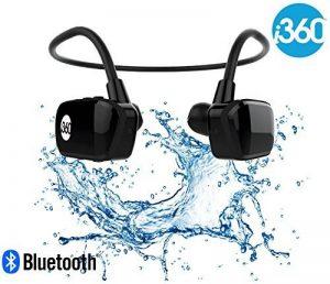 i360 Bluetooth 8 Go Étanche Lecteur MP3 Écouteurs Écouteurs Casque (Édition Noire) Écoutez votre musique tout en nageant / course / entraînement / gymnase Fuss Free sans un cordon! Lecteur de musique de la marque image 0 produit