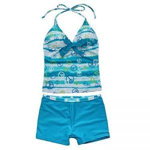 iEFiEL 2 pcs Filles Sundress Maillots de bain Halter Haut Et Short Ensemble Bikini Tankini 7-16 Ans de la marque iEFiEL image 0 produit