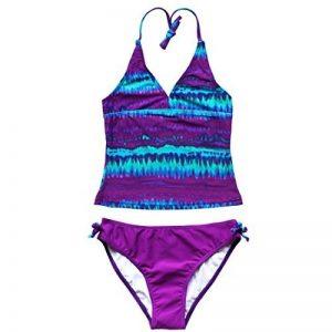 iEFiEL 2 pièces Maillot de bain Enfant Fille Tie-Dye Tankini Bikini Halter Motifs 8-16 Ans de la marque iEFiEL image 0 produit