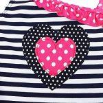 iEFiEL Enfant Bébé 1 Pièce Maillot de Bain à Rayures Coeur Imprimé Fille 1-8 Ans de la marque EFE image 2 produit