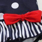 IINIIM Enfants Fille Bébé Bleu Maillots de bain une Pièce Barboteuse à pois Froufrous Bikinis 2-7 Ans de la marque iiniim image 2 produit