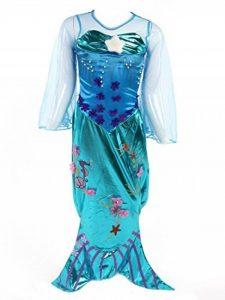 Katara 1777 Robe De Sirène Inspirée Par Ariel La Petite Sirène, Avec Pailletes, Pour Soirées À Thème - Choix Tailles de la marque Katara image 0 produit