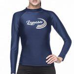 Lapasa Femme Maillot T-shirt Protection Solaire Anti-UV Dermoprotecteur Rashguard Haut Top Manches Longues Surf Plage Natation Plongée L27 de la marque LAPASA image 4 produit