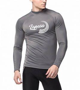 Lapasa Maillot T-shirt Protection Solaire Homme Rashguard Dermoprotecteur Homme Anti-UV Haut Top Manches Longues Surf Plage Natation Plongée M43 de la marque LAPASA image 0 produit