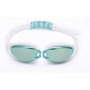 8f4708b6e91ab2 Lunettes de natation Antibuée Lunette pour Hommes Femmes et Enfants +10 ans  (Aqua, Verre Miroirs) de la marque Bezzee-Pro