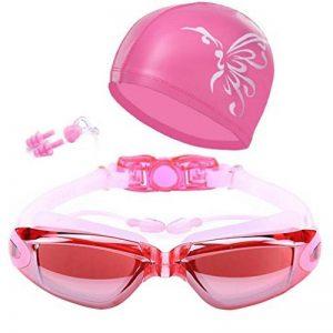 Lunettes de natation avec bouchons d'oreille anti brouillard Ensemble de Bonnet de bain pour homme femme Youth enfants de la marque image 0 produit