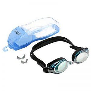 Lunettes de natation Mitavo pour adolescents et adultes, masque de plongée avec revêtement antibuée et protection UV 100% + étui de rangement de la marque Mitavo image 0 produit