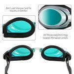 Lunettes de natation Mitavo pour adolescents et adultes, masque de plongée avec revêtement antibuée et protection UV 100% + étui de rangement de la marque Mitavo image 4 produit