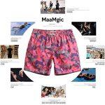 MaaMgic Homme Short de Bains Maillot de Bain Pants Court de Sport Séchage Vite Bien pour Vacance a la Plage de la marque MaaMgic image 5 produit