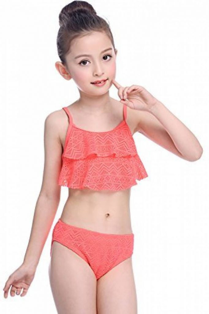 SHEKINI Été 2 pièces Mailots de Bain 1 Réglez Enfant Les filles Bikini  Halter Tankini Plage Natation pour 8-16 Ans de la marque SHEKINI 7bc20b82acf