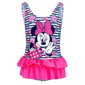 Maillot de bain 1 pièce enfant fille Minnie Blanc/rose de 2 à 8ans de la marque Minnie image 0 produit