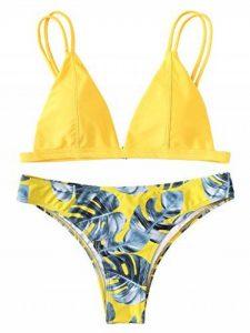 maillot de bain 1 pièce jaune TOP 2 image 0 produit