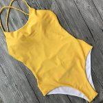 maillot de bain 1 pièce jaune TOP 4 image 4 produit