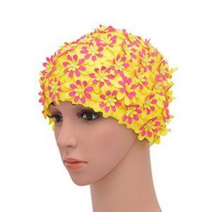 Medifier Bonnet de bain à fleurs avec pétales pour femme Style rétro de la marque image 0 produit