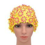 Medifier Bonnet de bain à fleurs avec pétales pour femme Style rétro de la marque image 1 produit