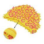 Medifier Bonnet de bain à fleurs avec pétales pour femme Style rétro de la marque image 3 produit