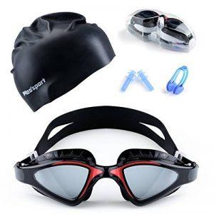 Mee'sport Ensemble de lunettes de natation,Avec protection antibrouillard UV lunettes de natation Bonnet de bain Jeux de jouets Équipement de natation Pour hommes femmes jeunes enfants garçons filles de la marque Mee'sport image 0 produit