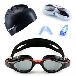 Mee'sport Jeu de lunettes de natation pour enfants,Avec antibrouillard Protection UV lunettes de natation Bonnet de bain Jeux de jouets Équipement de triathlon Pour Jeunesse Des gamins Garçons Filles de la marque Mee'sport image 0 produit