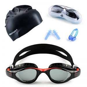 Mee'sport Jeu de lunettes de natation pour enfants,Avec antibrouillard Protection UV lunettes de natation Bonnet de bain Jeux de jouets Équipement de triathlon Pour Jeunesse Des gamins Garçons Filles de la marque image 0 produit
