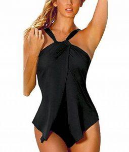 Minetom Femme Été Vacances Sexy Bikini Body Guide Tankini Push Up Grande Taille Maillot de Bain 1 Pièce Maillots Une Pièce de la marque Minetom image 0 produit
