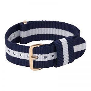 MOMENTO Bracelet de Montre NATO Nylon Homme et Femme - Acier Boucle - Rayé Elastique Textile Tissue - Vegan - Universel de la marque image 0 produit
