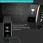 Montre connectée Ginsy avec traqueur d'activité, moniteur de fréquence cardiaque, Bluetooth, podomètre, moniteur de sommeil pour smartphones iOS et Android de la marque image 4 produit