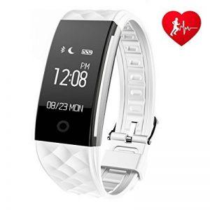 Montre connectée Ginsy avec traqueur d'activité, moniteur de fréquence cardiaque, Bluetooth, podomètre, moniteur de sommeil pour smartphones iOS et Android de la marque image 0 produit