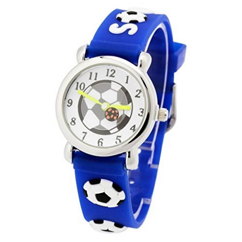 0349c32a1deb9c Montre Pédagogique pour Enfant Garçon Quartz Cadran Blanc avec Bracelet  Caoutchouc 3D Motif 3-8 Ans de la marque