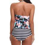 Moonuy Maillots de Bain Bikini 2 Pieces Femme Halter Neck Floral Rembourré Imprimer taille haute Bikini Set Beachwear de la marque MOONUY image 4 produit