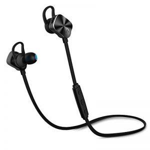 Mpow Écouteurs Bluetooth 4.1+CVC6.0 sans Fil Stéréo Oreillette Sport Écouteur Intra Auriculaires avec Microphone Réduction du Bruit Casque Audio pour Smartphone,iPhone,Android,iPad,MP3 et Plus-Noir (18 Mois Garanti ) de la marque image 0 produit