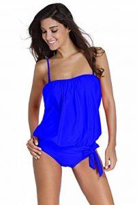 Neuf femmes Bleu roi Veste Bandeau Tankini maillots de bain une pièce Plage Maillot de bain Taille L UK 12EU 40 de la marque Gabriela Boutique image 0 produit