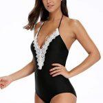NINGMI Femme Maillot de Bain 1 Pièce Halterneck Col V Amincissant Bikini de la marque NINGMI image 4 produit