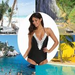 NINGMI Femme Maillot de Bain 1 Pièce Halterneck Col V Amincissant Bikini de la marque NINGMI image 6 produit