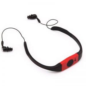 Omiu - 2013 Nouveau Baladeur MP3 étanche avec FM radio 4GO USB pour Sports Natation Surf SPA Plage, Piscine, Douche, Mer - Rouge de la marque image 0 produit