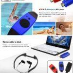 Omiu - 2013 Nouveau Baladeur MP3 étanche avec FM radio 4GO USB pour Sports Natation Surf SPA Plage, Piscine, Douche, Mer - Rouge de la marque image 6 produit