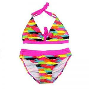 OMSLIFE 2 pièces Maillot de bain Enfant Fille Tie-Dye Tankini Bikini Halter Motifs 8-16 Ans de la marque OMSLIFE image 0 produit