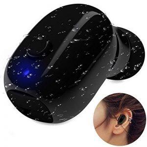 Paracity étanche Earbud Mini oreillette Bluetooth sans fil IP68 étanche résistant à la transpiration Sport Course de natation et micro casque Plus Petit V4.2 Ecouteurs pour iPhone, iPad, Android de la marque image 0 produit
