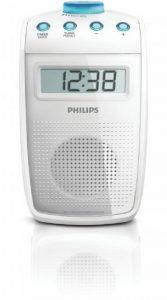 Philips AE2330 Radio de salle de bain étanche avec horloge intégrée et minuterie réglable, Blanc de la marque image 0 produit